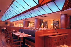 Futronix Enviroscene dimmer shown operating the lights in a restaurant.