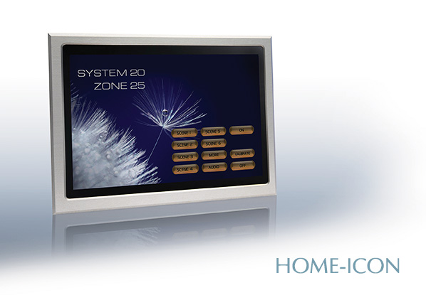 Futronix Home-Icon touchscreen the central controller for large lighting projects