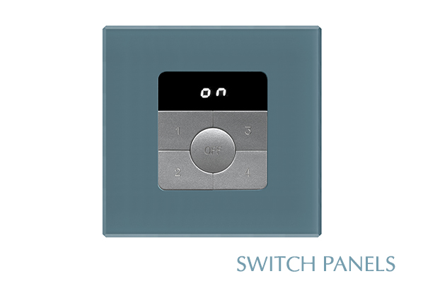 Futronix range of high quality glass and metal wall switch outstations