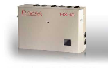 The Hx dimmer and lighting controller has 12 channels of mixed dimming, switching and 1-10v control