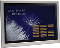 Home-Icon touchscreen controller for use with the Enviroscene range of dimmers.