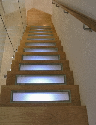 Futronix P800 scene dimmer shown operating the lighting in a stairway