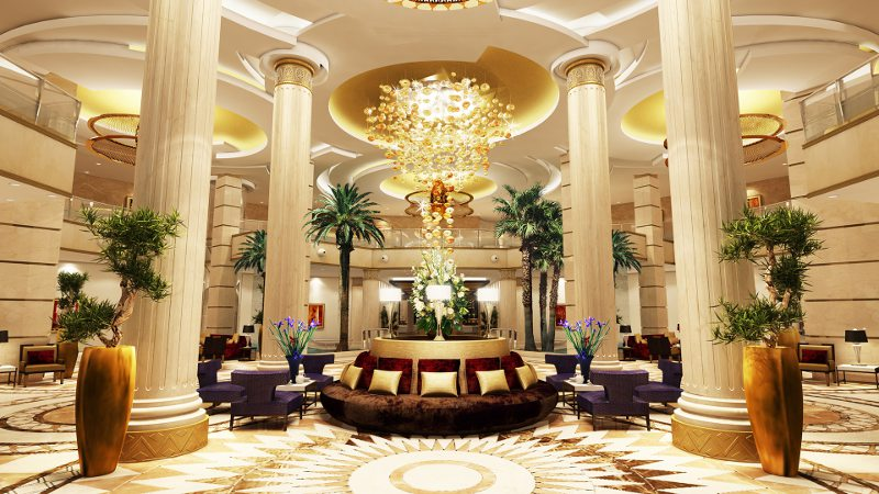 Futronix PFX dimmers operate the lighting in the lobby of the Kempinski Hotel Cairo
