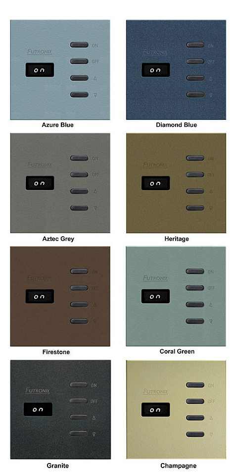 Sahara switch panel colour selection
