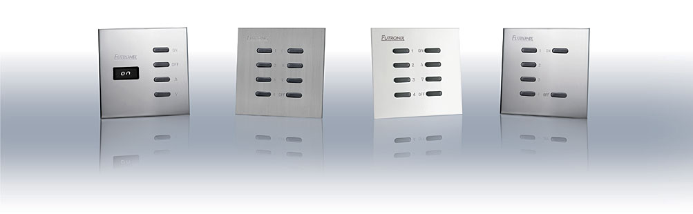 Switch plate lighting control panel selection