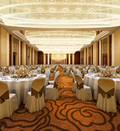 dimmers in use controlling the lighting in a banquet hall