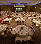 dimmers used in a Banquet hall