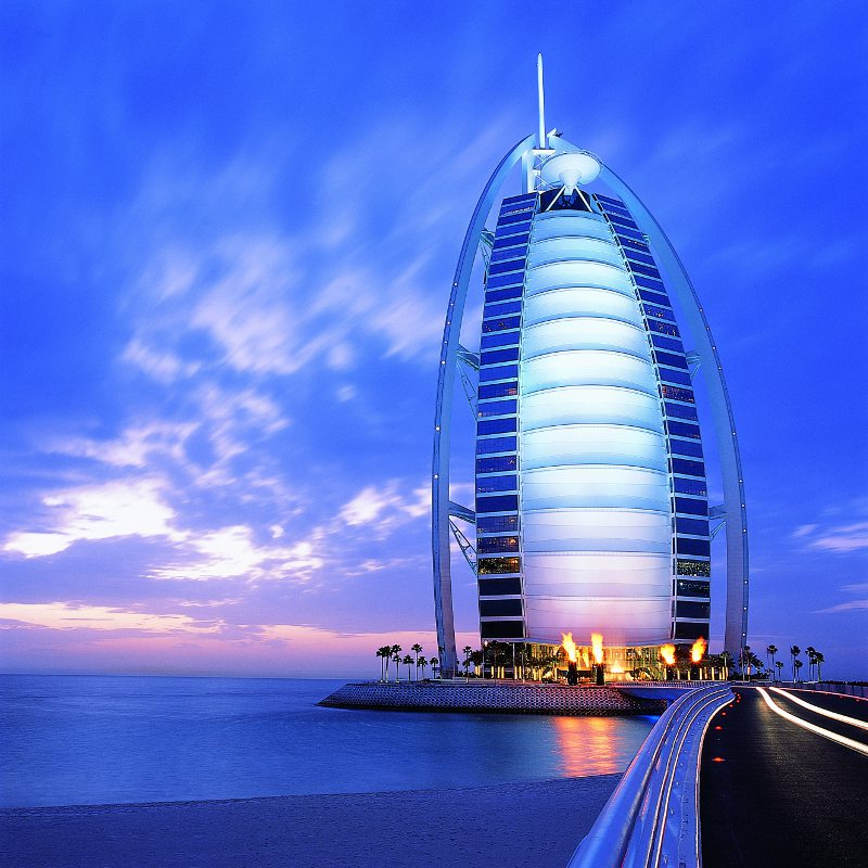 The causeway Approach to the Burj Al Arab.