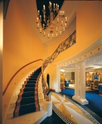 A hotel suite lobby at the Burj Al Arab hotel lit by Futronix