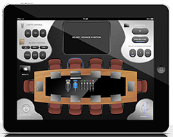Conference room layout using Demopad control