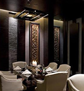 dimmers being used to control hotel dinning room lighting