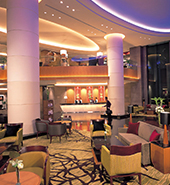 Futronix dimmers expertly lighting a hotels lobby