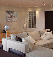 dimmers used in a luxury home lounge