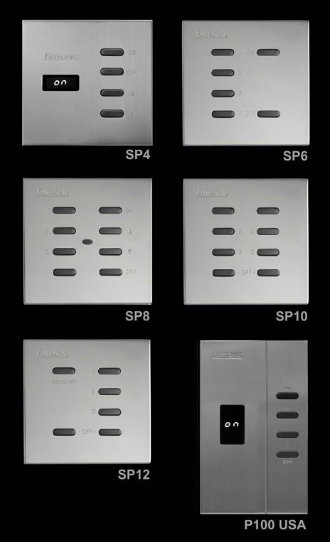 Futronix range of stainless steel switch panels
