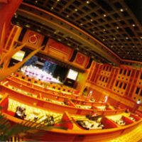 The auditorium and lighting control system is shown operating at the Empire Hotel.