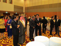 High level dignitaries and functionaries attending an event at the Empire hotel, Brunei.
