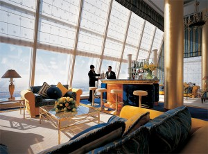 Dimmer is shown controlling the lighting in a club suite at the Burj Al Arab.