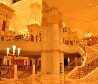 Lighting dimmer for the grand staircase at the Empire hotel, Brunei.