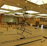 Dimmers and lighting control setup for the huge Empire ballroom.