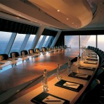 Dimmers shown controlling the conference room lighting at the Burj Al Arab.