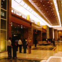 Dimmers control the lobby area lighting at the Empire hotel, Brunei