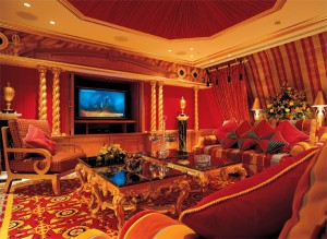 Futronix dimmers control the cinema lighting in the Royal suite at the Burj Al Arab.