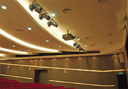 Singapore LTA academy auditorium lighting system