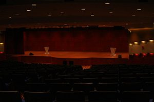 Atmospheric scene shown in the Malaysian airlines auditorium using Futronix dimmers to control the lighting