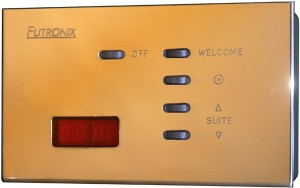 The reception lighting control on each floor operates the welcome scene for each suite.