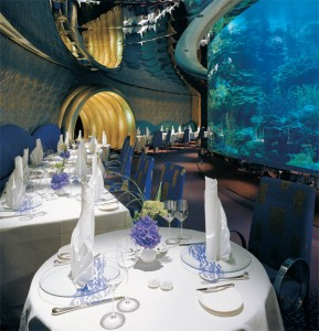 Dimmers and lighting controls used to operate the restaurant lighting at the Burj Al Arab.