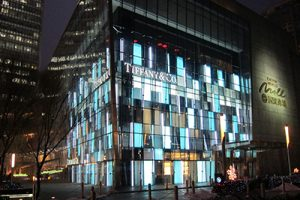 Tiffany's flagship Beijing's store uses Futronix PFX dimmers throughout, to create displays and illuminate the exterior.